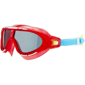 speedo Biofuse Rift Goggle Juniors Lava Red/Japan Blue/Smoke